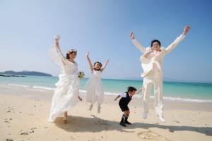 沖繩沙灘一起跳