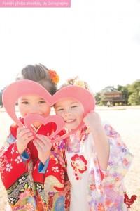 七五三祇園拍攝家庭記念照