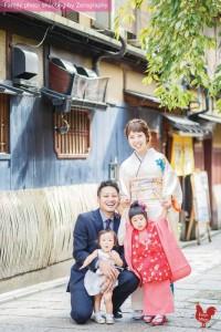 京都七五三祇園拍攝家庭記念照