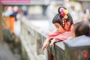 京都祇園七五三家庭記念照