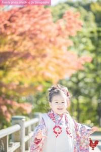 紅葉傳統七五三家庭記念照