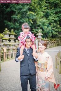 傳統七五三家庭記念照