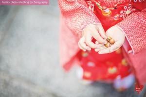 取景祇園拍攝戶外家庭記念照
