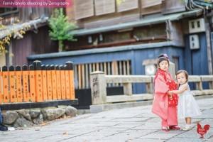 祇園橋姊妹小女孩拍攝記念照