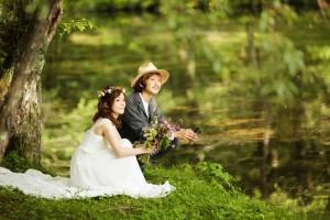 小編其中一張最喜歡的輕井澤雲場池婚紗照