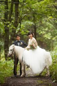騎著驢仔拍攝婚紗照