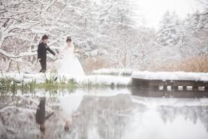 輕井澤雪景婚紗照