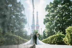 東京鐵塔下婚紗照