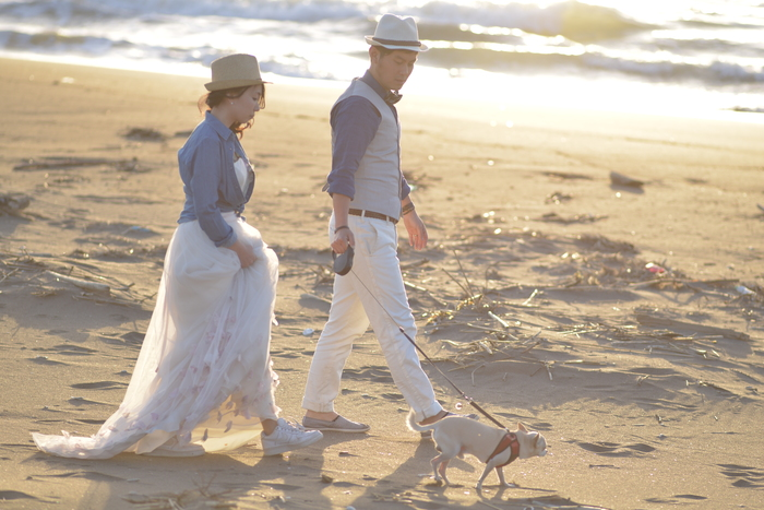北海道石狩市沙灘黃昏婚紗照拍攝22 by M&M Company